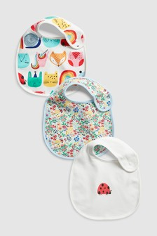 Ladybird Character Regular Bibs Three Pack