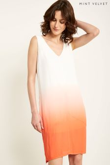 Mint Velvet Orange Ombre Cocoon Dress