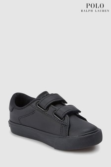 Ralph Lauren Easten Triple Black Velcro Trainer