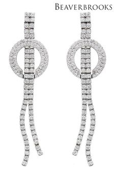 Beaverbrooks Cubic Zirconia Drop Earrings