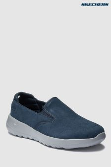 Skechers® Blue Double Gore Suede Slip-On