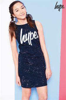 فستان كحلي مطرطش من Hype