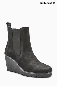 Timberland® Black Paris Height Chelsea Wedge Boot