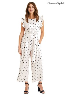 Phase Eight Pink Verena Spot Jumpsuit