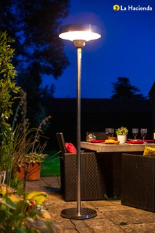 Freestanding Stainless Steel Electric Outdoor Heater by La Hacienda