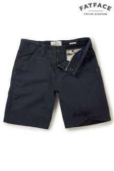 FatFace Navy Ellis Flat Front Short
