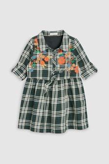 Check Embroidered Shirt Dress (3mths-6yrs)