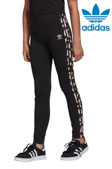 adidas Originals Black Animal Stripe Leggings
