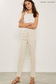 Mint Velvet Natural Joliet Button Fly Jean