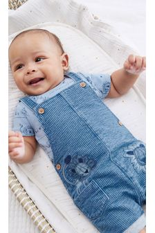 Denim Lion Dungaree and Bodysuit Set (0mths-3yrs)