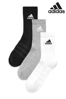 מארז שלושה זוגות גרביים מעורבות עם שוליים מעוגלים של adidas Adult