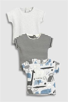 Animal T-Shirts Three Pack (0mths-2yrs)