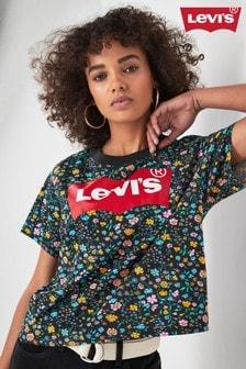 Levi's® Black Floral Logo T-Shirt