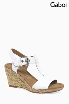 Gabor White Leather Sandal