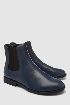 Piping Detail Chelsea Boots
