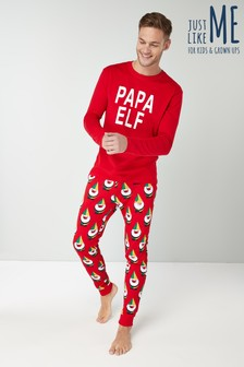 Mens Papa Elf Pyjamas