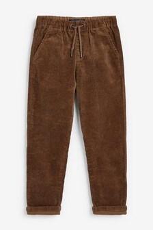 Вельветовые брюки без застежки (3-16 лет)