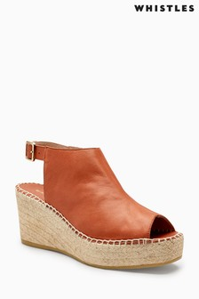 Whistles Tan Espadrille Wedge