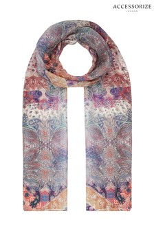 Accessorize Boho Purple Paisley Scarf