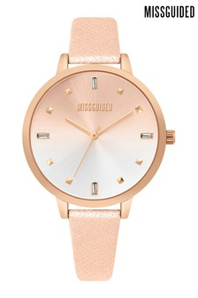 Missguided Glitter Strap Watch