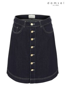 Damsel In A Dress Blue Mea Smart Denim Skirt