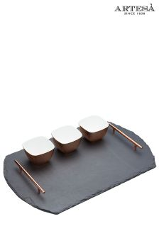 Artesa Slate And Copper Serving Set