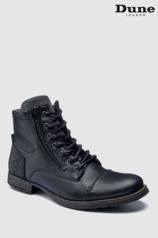 Dune Black Charing Warm Lined Worker Boot