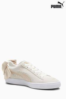 Puma® Suede Basket Bow aus Veloursleder, beige
