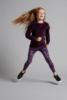 Velour Crew And Leggings Set (3-16yrs)
