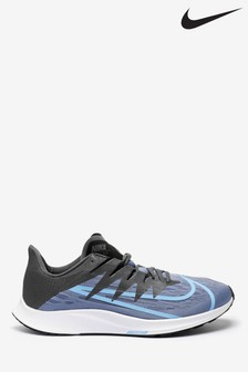 Nike Run Black/Blue Zoom Rival Fly Trainers