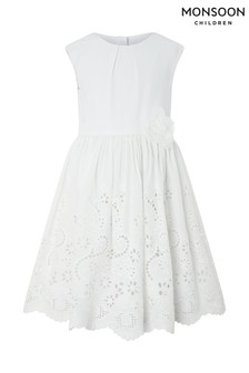 Monsoon Ivory May Broderie Dress