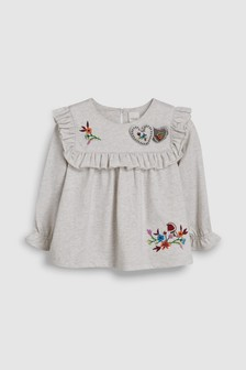 Heart Embroidered Top (3mths-6yrs)
