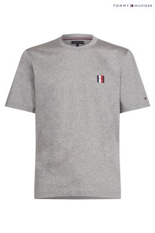 Tommy Hilfiger Grey Relaxed Fit Badge T-Shirt