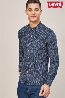 Levi's® Blue Indigo Mini Geo Pocket Shirt