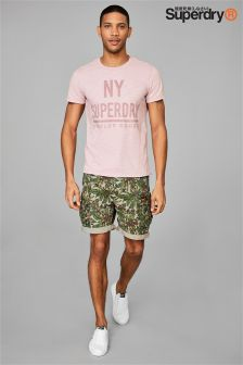 Superdry Green Jungle Print Short