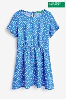 Benetton Blue Printed Dress