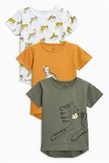 Short Sleeve Tiger T-Shirts Three Pack (3mths-6yrs)