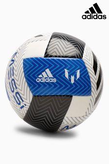 adidas White/Blue Messi Football