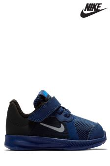 Nike Run Blue/Silver Downshifter 8 Reflective Velcro
