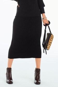 Midi Rib Pencil Skirt
