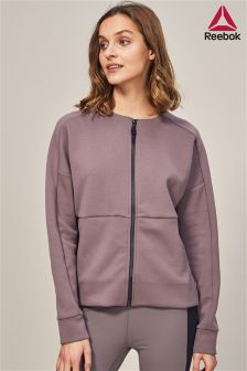 Reebok Purple Full Zip Sweat Top