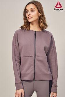 Reebok Purple Full Zip Sweat Top