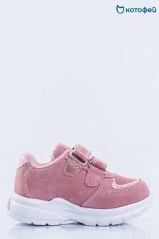 Розовые кроссовки с бабочками Kotofey