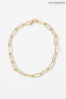 Accessorize Gold Gold-Plated Long Link Chain Necklace