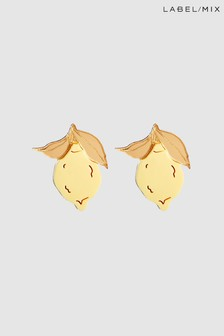 Mix/Wolf & Moon Mini Lemon Stud Earrings