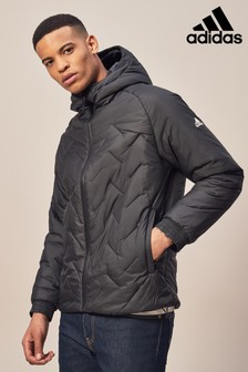 adidas Black Hooded Padded Jacket