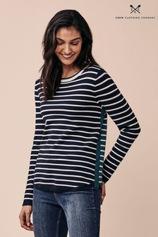 Crew Clothing Company Blue Mix Stripe Jumper