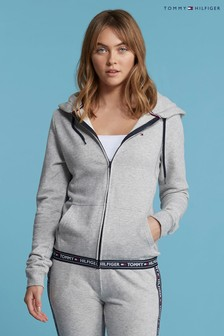Tommy Hilfiger Grey Logo Lined Hoody