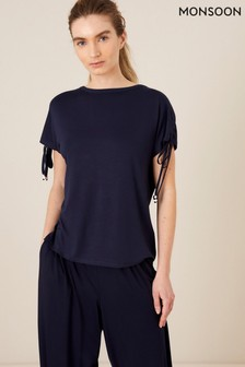 Monsoon Ruched Sleeve Lounge T-Shirt