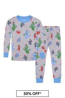 Boys Organic Cotton Grey Pyjamas Set